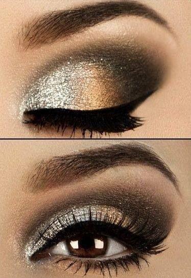 Новогодний макияж smokey-eyes