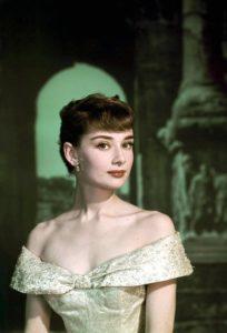 Макияж 50-х годов на Одри Хепберн