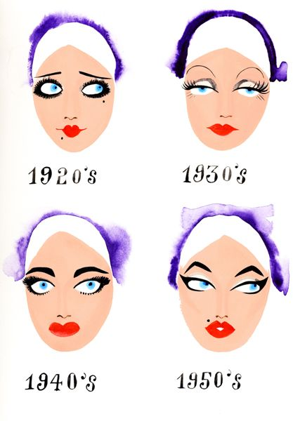 Особенности макияжа с 1920-х по 1950-е года