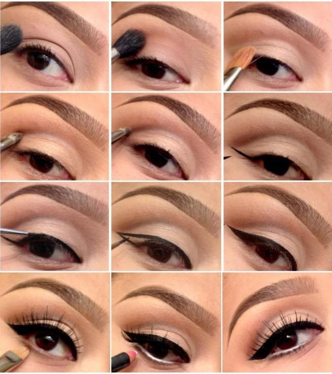 Свадебный макияж своими руками для карих глаз пошаговое фото 89