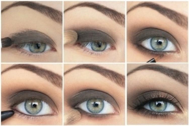 Пошаговый урок по смоки айс для голубых глаз