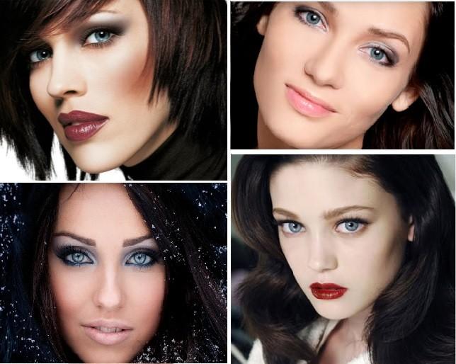 Примеры макияжа для Цветотипа Зима