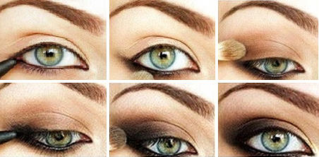 Дневной макияж для зеленых глаз с пошаговым 77