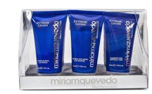 Косметика в отпуск из набора Miriam Quevedo Extreme Caviar Travel Kit