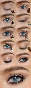 Поэтапный урок по созданию макияжа в стиле нюд для голубых глаз