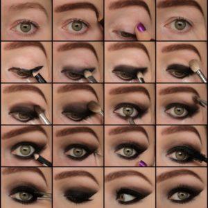 Вечерний макияж для нависшего века