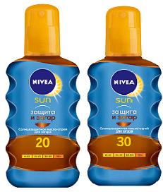 """Солнцезащитное масло-спрей для загара """"Защита и Загар"""" от Nivea"""