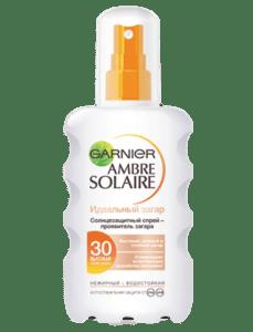 Солнцезащитный спрей-проявитель загара Ambre Solaire Идеальный загар SPF30 от Garnier
