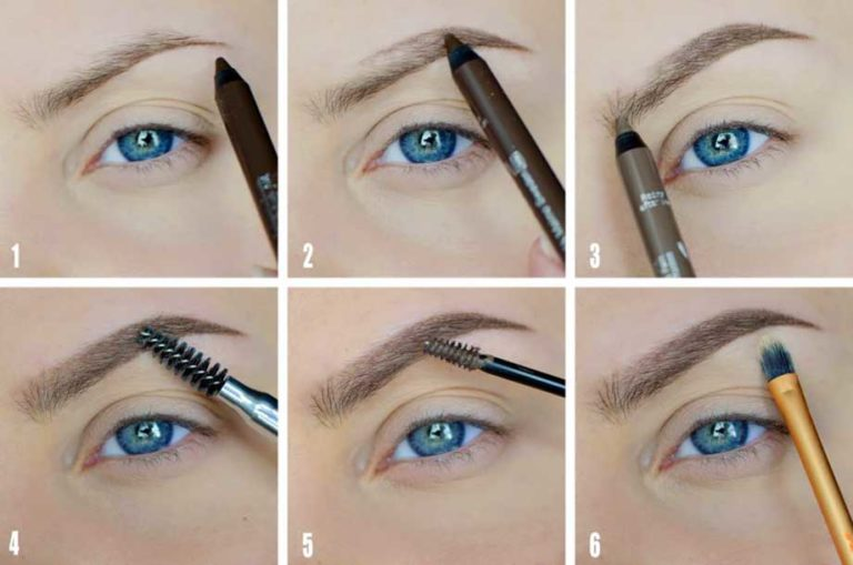 Как и чем правильно рисовать брови пошаговое