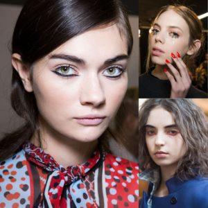 Акцент на нижнем веке в осеннем макияже