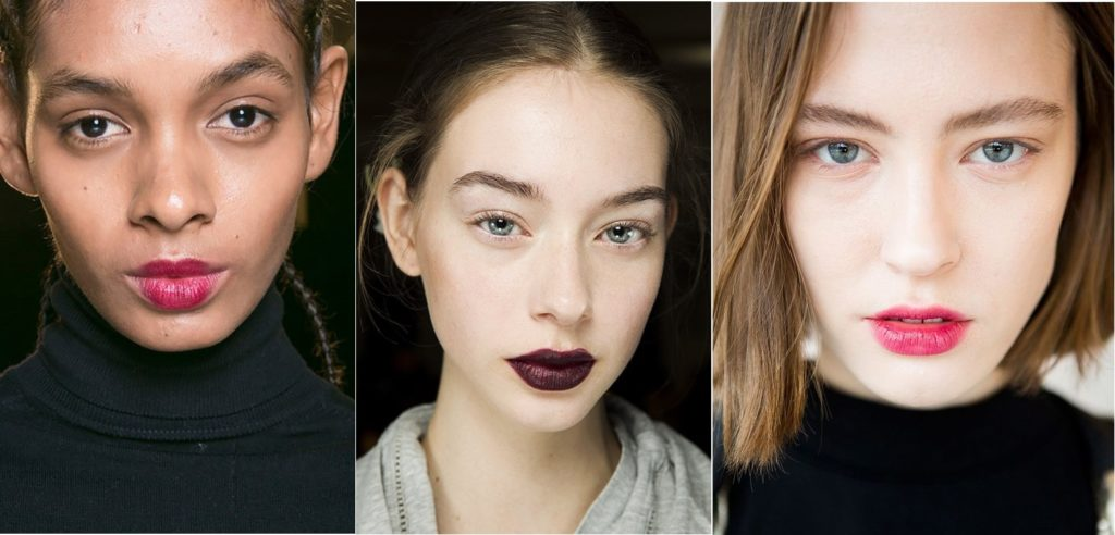 Осенний макияж губ