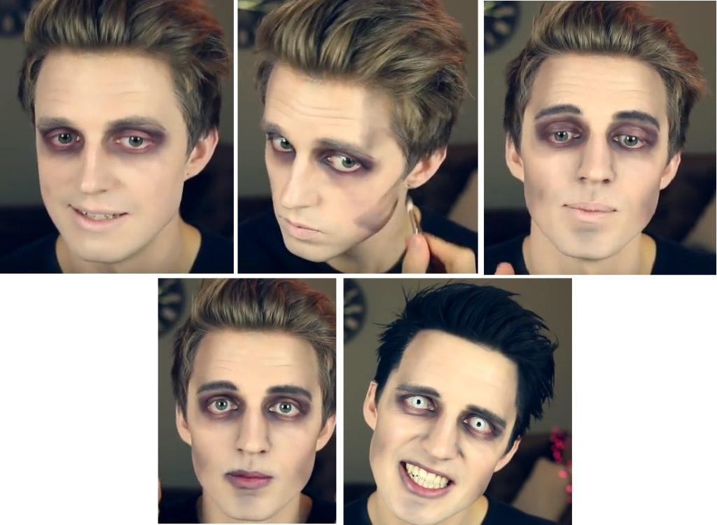 Макияж вампира на Хэллоуин пошагово