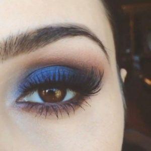 Осенний макияж для карих глаз