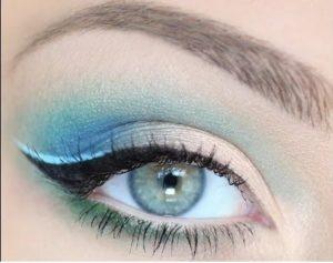 Осенний макияж для серо-голубых глаз