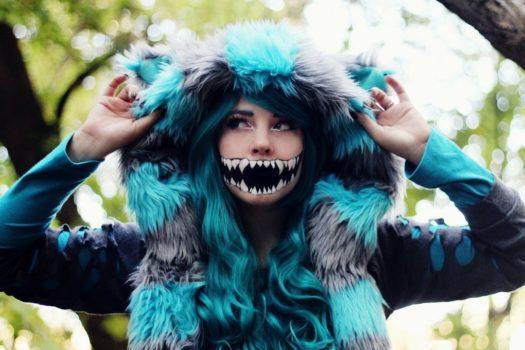 Как сделать макияж Чеширского кота на Хэллоуин