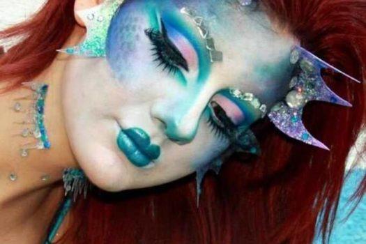 Как сделать загадочный макияж русалки на Хэллоуин
