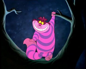 Чеширский кот из мультфильма «Алиса в стране чудес»