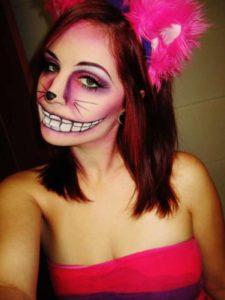 Макияж Чеширского кота в розовых тонах