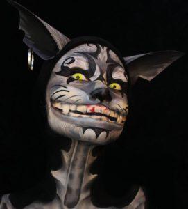 Брутальный макияж Чеширского кота