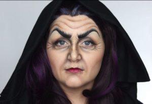 Макияж ведьмы в образе старухи