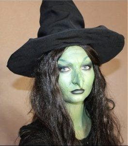 Макияж ведьмы с накладным носом