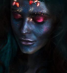 Мистический макияж русалки