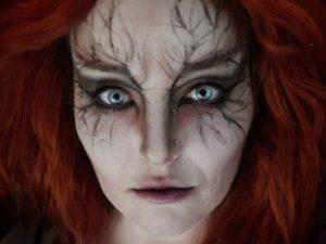 Макияж ведьмы с рыжими волосами