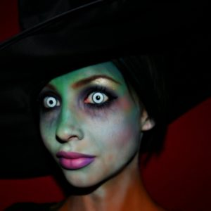 Макияж ведьмы с линзами