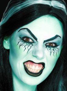 Яркий макияж ведьмы на Хэллоуин