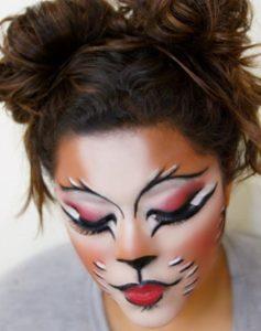 Экстравагантный макияж кошки