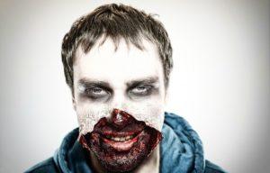 Ужасающий макияж зомби