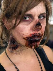 Женский макияж зомби