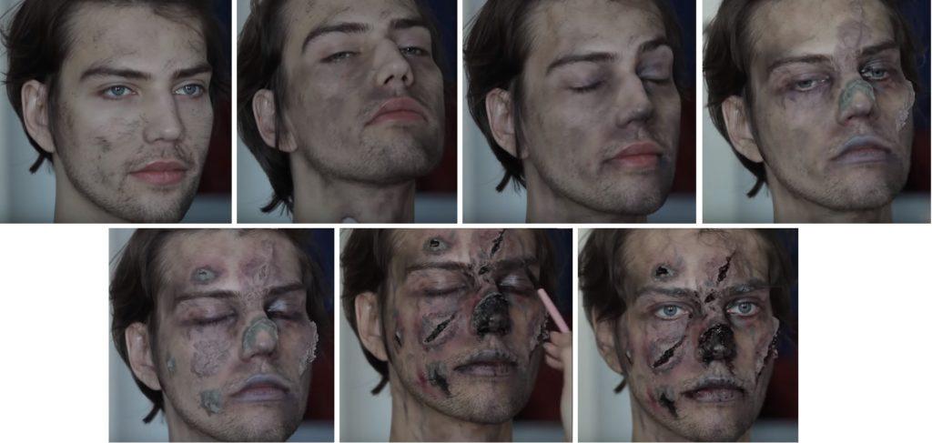 Макияж зомби для мужчины пошагово