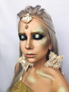 Прекрасный макияж русалки на Хэллоуин