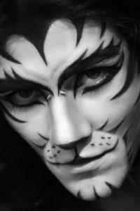Мужской макияж тигра