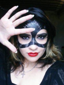 Макияж женщины кошки на Хэллоуин