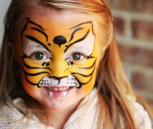 Детский макияж тигренка