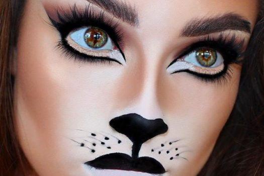 Как сделать макияж кошки на Хэллоуин