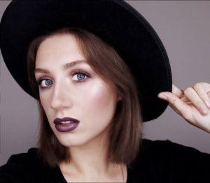 Зимний макияж в разных оттенках фиолетового