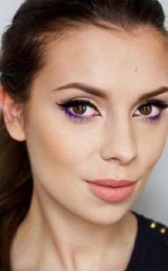 Зимний макияж в фиолетовых тонах