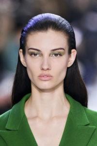 Зимний макияж в оливковых тонах