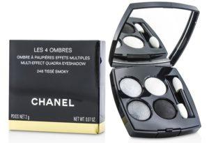 Палетка теней Les 4 Ombres Tisse Smoky от Chanel для смоки айс