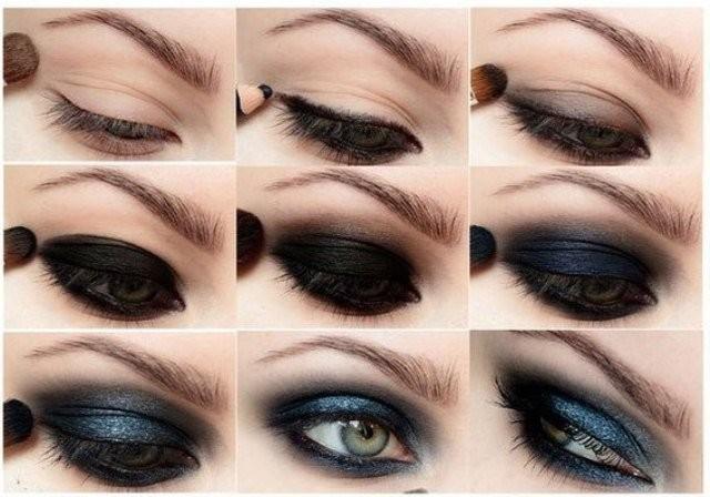 Пошаговое фото руководство по выполнению вечернего макияжа смоки айс