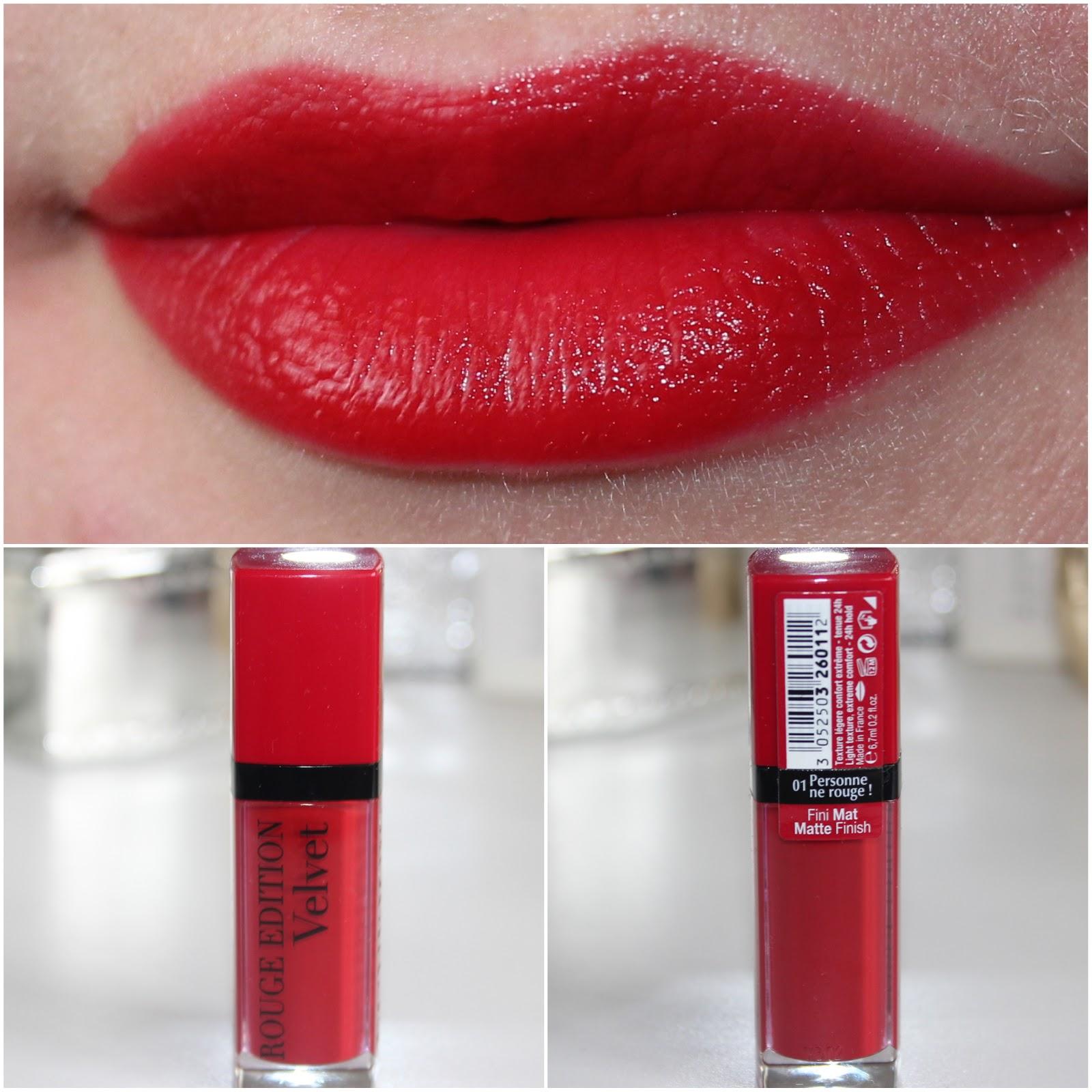 Оттенок №1 Personne ne rouge из линейки матовых помад Rouge Edition Velvet от Bourjois