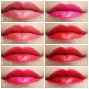 Сравнительные свотчи жидких матовых помад Velvet Rouge Edition от Bourjois