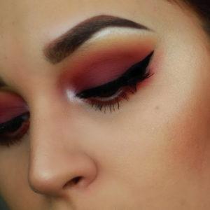 Макияж глаз при помощи палетки In Your Element Shadow Palette Fire от NYX