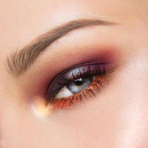 Пример макияжа с использованием палетки In Your Element Shadow Palette Fire от NYX
