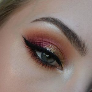 Пример макияжа In Your Element Shadow Palette Fire от NYX