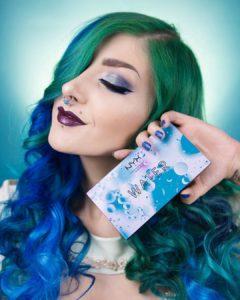 Вариация макияжа с палеткой In Your Element Shadow Palette Water от NYX