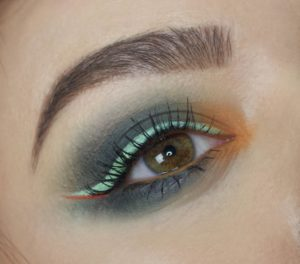 Красивый макияж с палеткой In Your Element Shadow Palette Earth от NYX